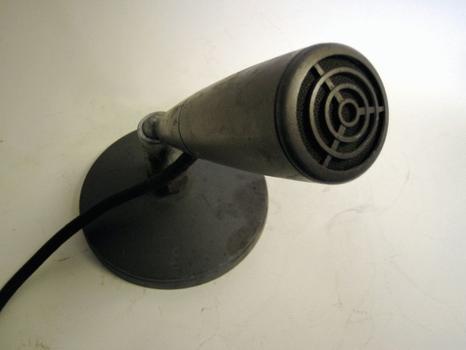 """WNYC RCA BK-1A """"Pressure Type"""" Microphone"""