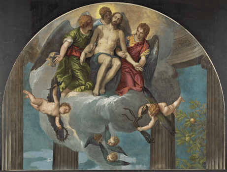 Paolo Veronese, <em>The Dead Christ Supported by Angels</em>, 1563–1565