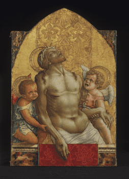 Carlo Crivelli, <em>Dead Christ Supported by Two Angels</em>, c.1470–1475