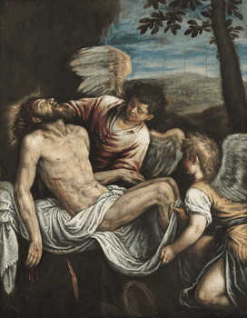 Leandro Bassano (1557–1622), <em>The Dead Christ with Angels</em>, c.1580