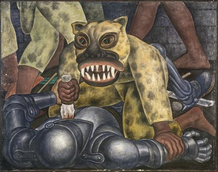 From the Diego Rivera exhibit at MoMA, his 1931 fresco 'Indian Warrior.'