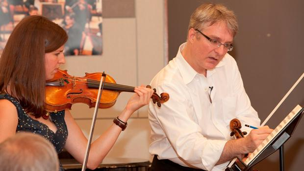 Jonathan Carney teaching a master class for the BSO Summer Academy