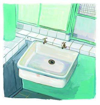 The Jewish Museum is opening a new show devoted to more than three decades worth of output by noted illustrator Maira Kalman. Above, 'Le Corbusier Sink,' 2006, a gouache on paper.
