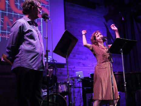 Comedian Kristen Schaal joins Kurt on stage to co-host the show.