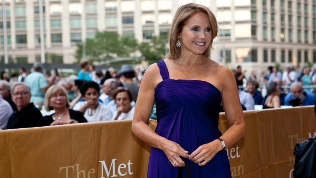 Katie Couric arrives for opening night at the Metropolitan Opera.