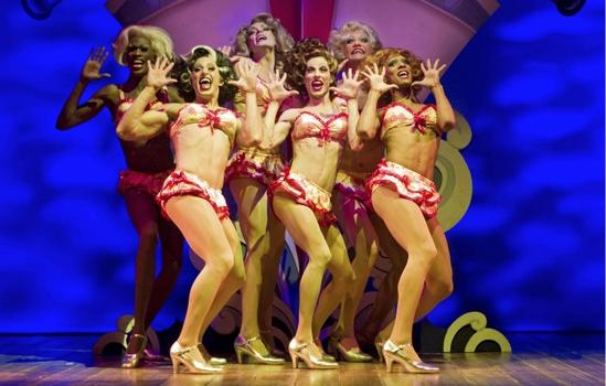 "The ""Cagelles"" of ""La Cage aux Folles."" Vincentelli thinks they are too muscular for a 1970's aesthetic."