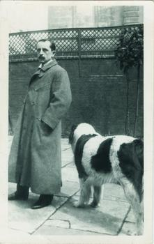 J. M. Barrie and Luath, 1904 (Beineke Rare Book and Manuscript Library, Yale University)