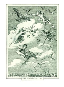 """""""Let Him Keep Who Can."""" Illustration from Peter and Wendy by F. D. Bedford (published by Charles Scribner's Sons in 1911)"""