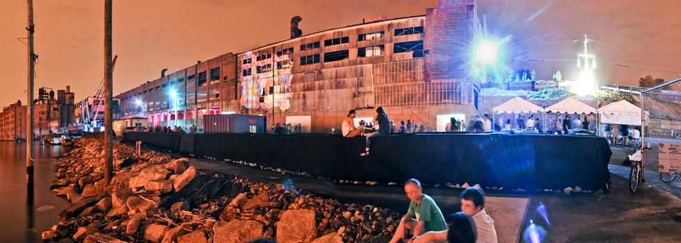 This Saturday on the Staten Island waterfront: Lumen, an arts festival devoted to video and light projection -- complete with gritty industrial backdrop.