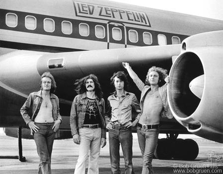 Led Zeppelin, 1973. From the book <em>Rock Seen,</em> by Bob Gruen.