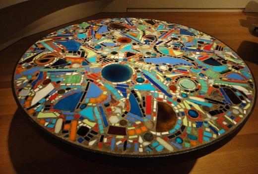 The craft museum at the Museum of Arts & Design explores the ways that artists influenced craftsment and vice versa. Shown here: a mosaic table by Lee Krasner from 1947.
