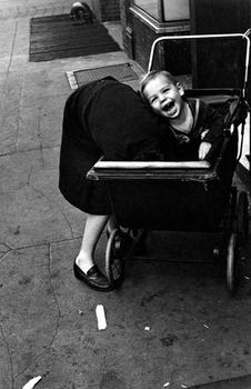 Also on view at Miller is one of street photography's undisputed masters: Helen Levitt. Her photograph 'Girl in Baby Carriage, NYC' was taken in 1939.