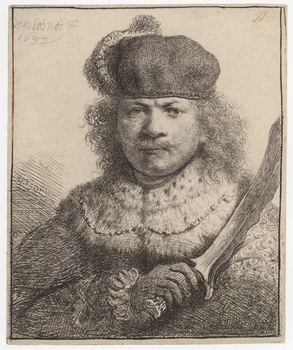 <em>Self-Portrait with Raised Saber</em>, 1634
