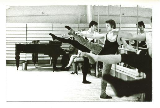 Baryshnikov warming up in Russia.