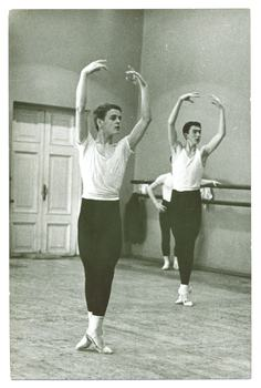 Another photo of Baryshnikov dancing in his native Russia.