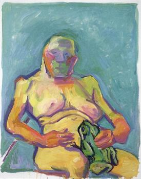 Austrian artist Maria Lassnig will have some of her recent work on view at Friederich Petzel, such as the canvas 'Frog Princess,' from 2000.