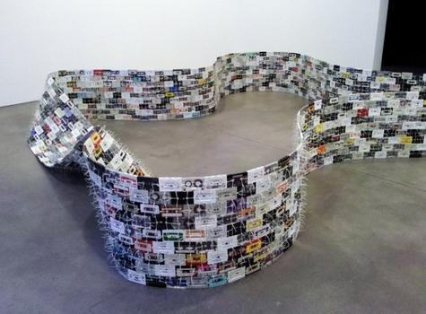 Paula Cooper Gallery has a mixed-bag group show that features Christian Marclay's 'Moebius Loop,' a cassette tape sculpture from 1994.