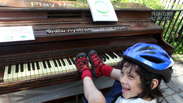 Mason Alexander, 4, is a student at the 3rd Street Music School