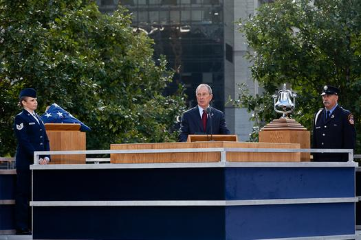 Mayor Michael Bloomberg at the 9/11 10th anniversary ceremony