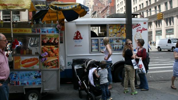 Hard not to recognize the most traditional (and ubiquitous) player in the food truck movement: Mister Softee.