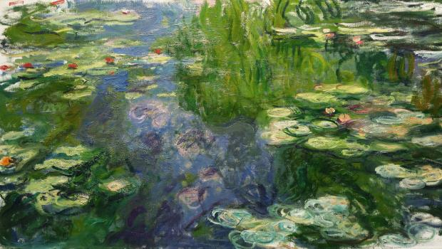 Detail from <em>Le Bassin aux Nymphéas,</em> by Claude Monet, which sold for $24,722,500. Before the auction, Sotheby's reported it was worth between $20 and $30 million.