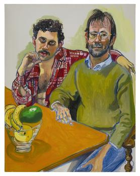 Neel had a knack for conveying the personalities of her sitters in a just a few brushstrokes -- as in this painting 'Geoffrey Hendricks and Brian,' from 1978.