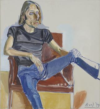 The portraiture of Alice Neel goes on view at David Zwirner in Chelsea. A 1973 painting featuring David Sokola is shown above.