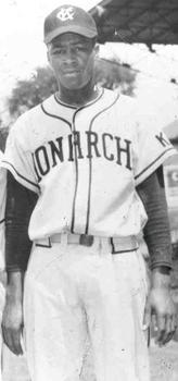 Elston Howard's photo is also on view. In 1948, Howard, 19, played three seasons in the Negro Leagues with the Kansas City Monarchs as an outfielder-catcher. He would later join the New York Yankees.