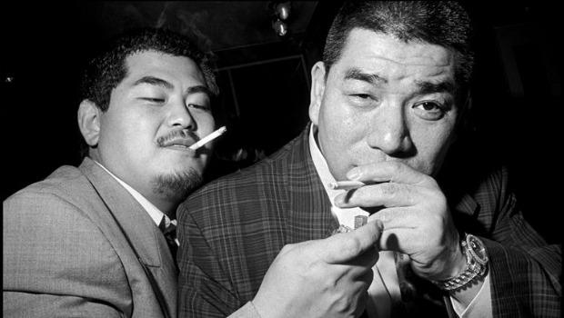 "Another Magnum Photo of two Yakuza men that Dylan allegedly copied for a work in his ""Asia Series"" show."