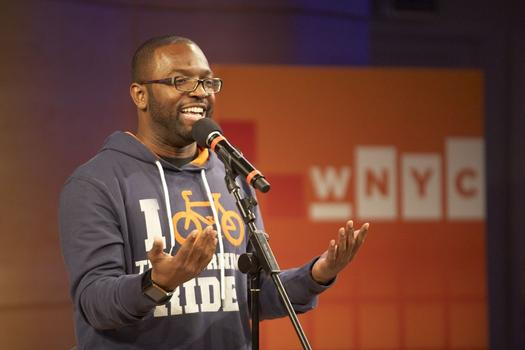 Baratunde Thurston, author of How to Be Black, appears at the It's A Free Country Super Tuesday party.