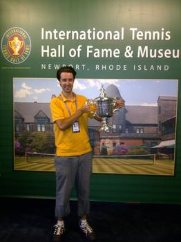 Nate Chura with an exact replica of this year's U.S. Open winner's trophy.
