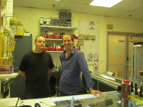 Paul Godin and Robert Lorayne, at Gotham Model Trains.
