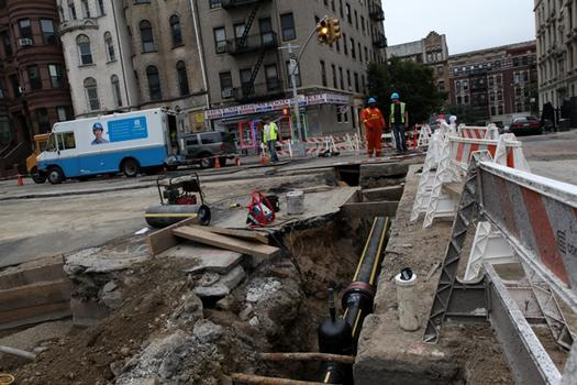 New water pipe in Harlem.