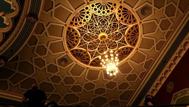 The refurbished ceiling at City Center