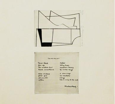 In this piece, British Abstract painter Ben Nicholson keeps it separate from English poet Sir Herbert Read.