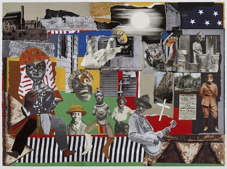 Artists pay tribute to collage master Romare Bearden at the Studio Museum. Shown here: 'Godfather,' 2011, by L.A. artist John Outterbridge.