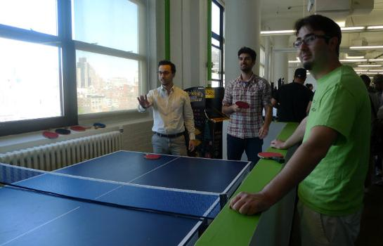 "Engineers play ping pong at Spotify offices. Hacker advocate Andrew Mager says taking breaks for ping pong isn't just allowed: ""It's encouraged."""