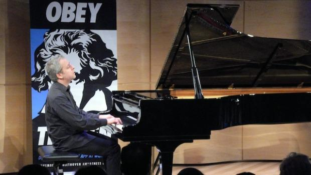 Jeremy Denk performed two sonatas during the marathon