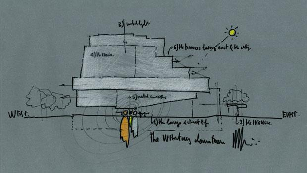 Renzo Piano's sketch of the new building.