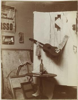 This photograph, which opens the Picasso exhibit, is one of my favorite images in the show. There is something incredibly playful about those newspaper arms holding a guitar.