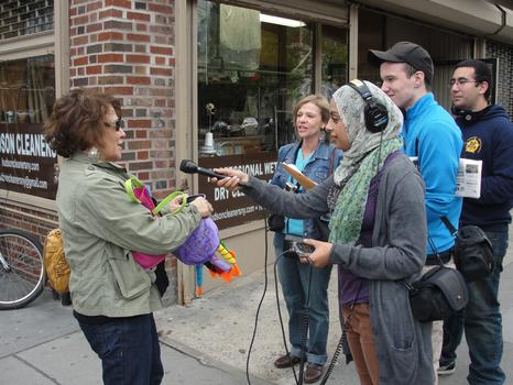 Learning vox pop on the street