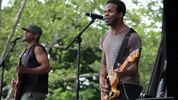 Pillow Theory performed at SummerStage in Central Park on June 5.