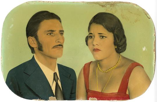 Painted photographic portraits such as these have fallen out of favor in Brazil with the rise of digital photography.