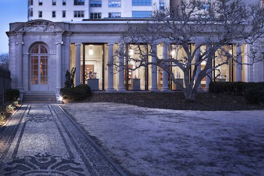 A view of the Frick Collection's new Portico Gallery from outside.