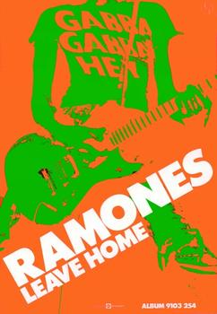 A poster for the Ramones from 1977. The show at Kasher features vintage posters, zines and flyers, all embodying a wide array of artistic styles, including pop and commercial design.