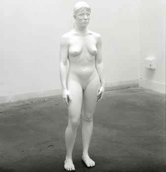 Aluminum Girl, 2003. Aluminum and paint, 62 1/2 x 18 1/2 x 11 1/2 in. The Dakis Joannou Collection, Athens