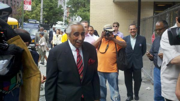 Charles Rangel heads to the polls to vote for himself for the 22nd time.