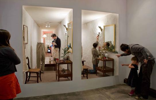 Recess functions as a studio for artist residencies and an exhibition venue that caters to emerging artists. Here, the first opening of Recess in 2009.