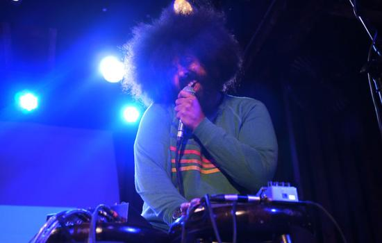 Super secret guest Reggie Watts performs at the Bell House during the second Kings County show. He was joined onstage by ?uestlove.