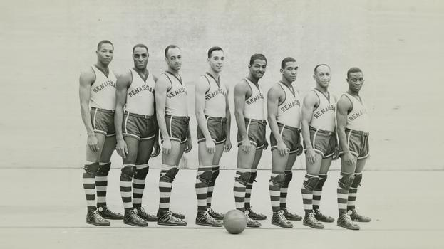 Team photo of the Harlem Rens.
